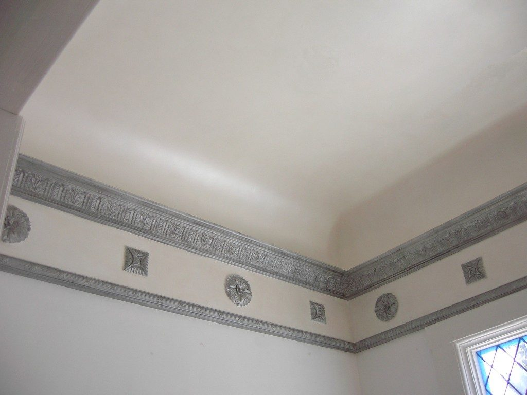 Beautiful white wall plaster