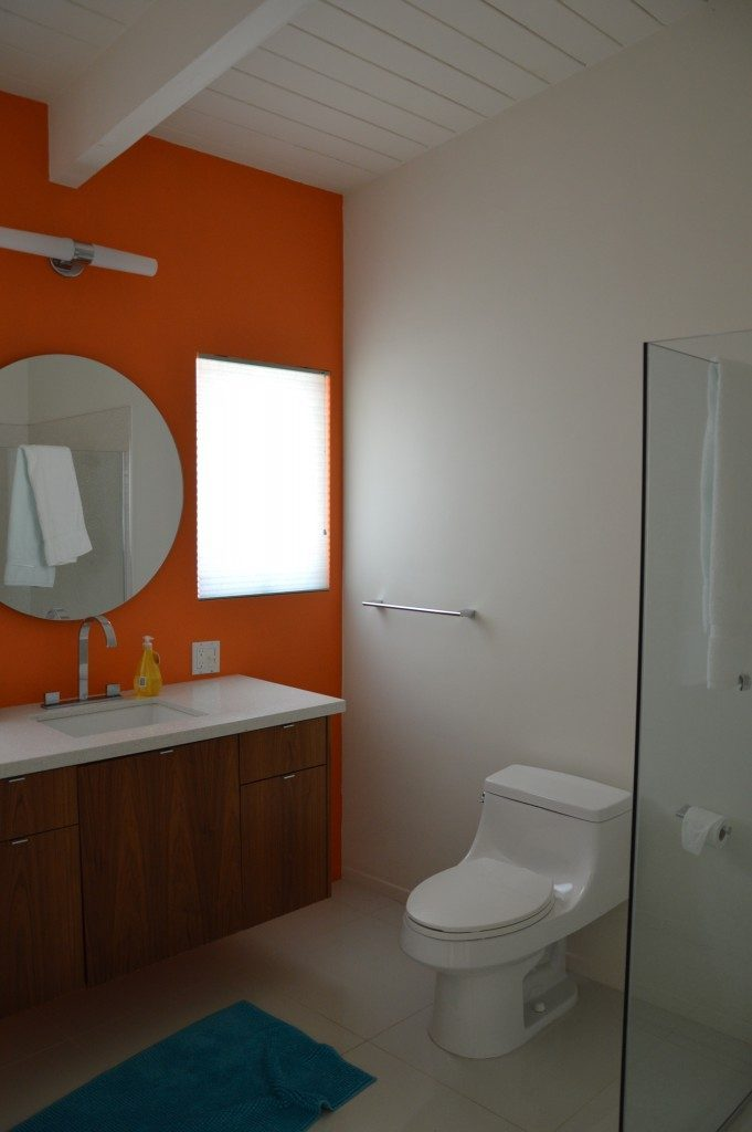 Washroom Orange White Combo Interior House Paint