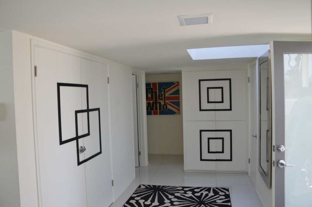 White Black Square Residential Painting