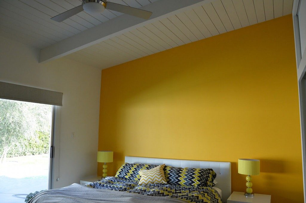 Yellow White Room Celing Cost To Paint-House